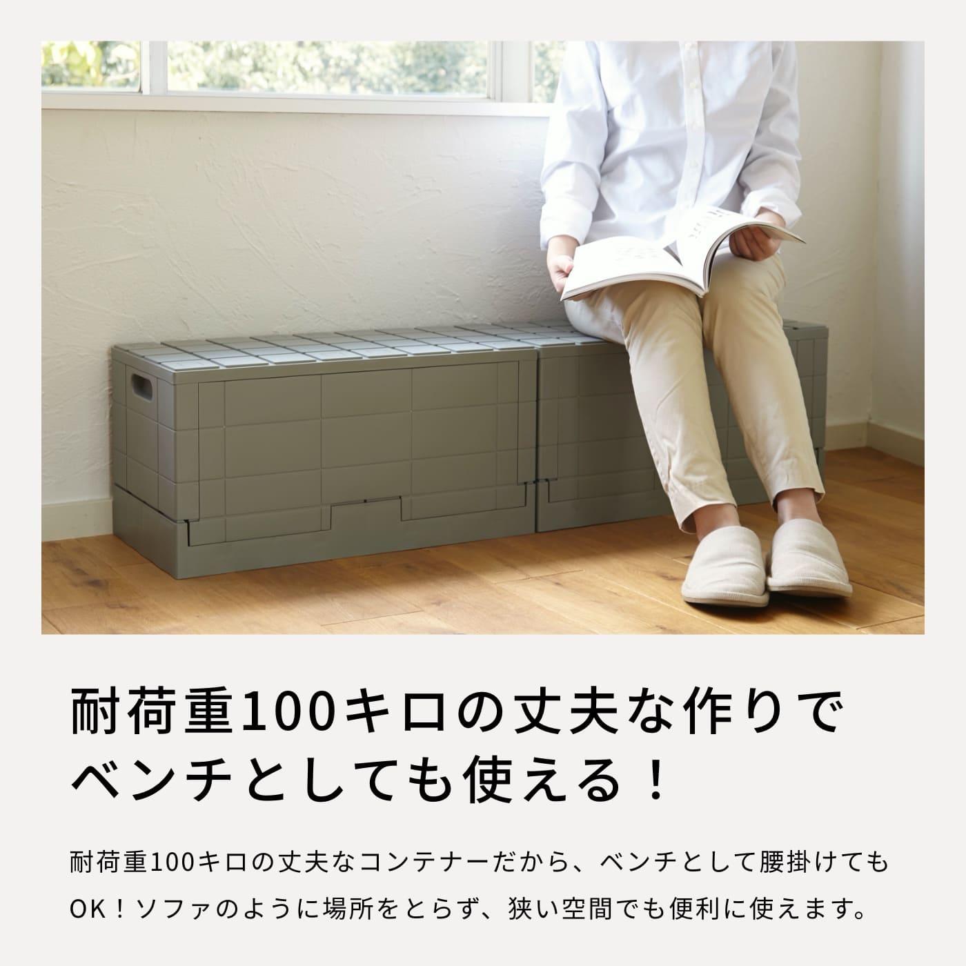 耐荷重100キロの丈夫な作りでベンチとしても使える!