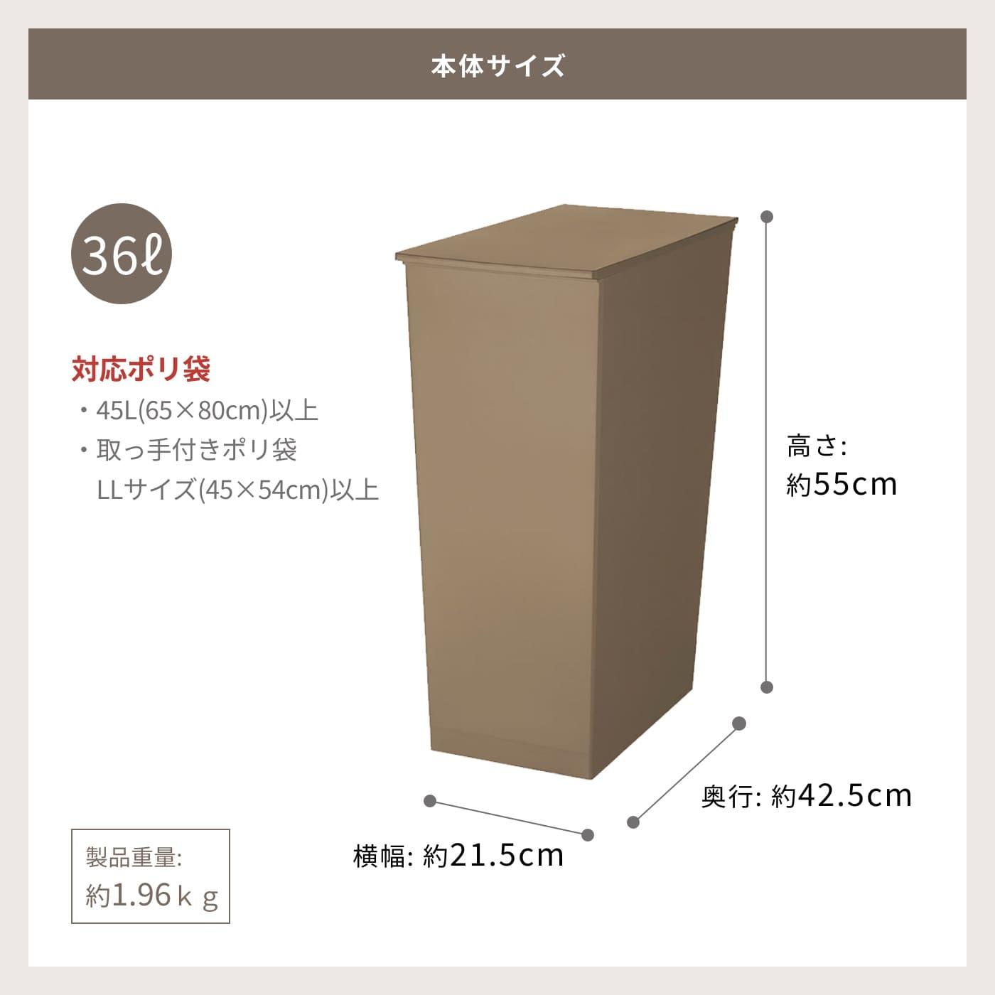 本体サイズ 36L 高さ約55cm 横幅約21.5cm 奥行約42.5cm