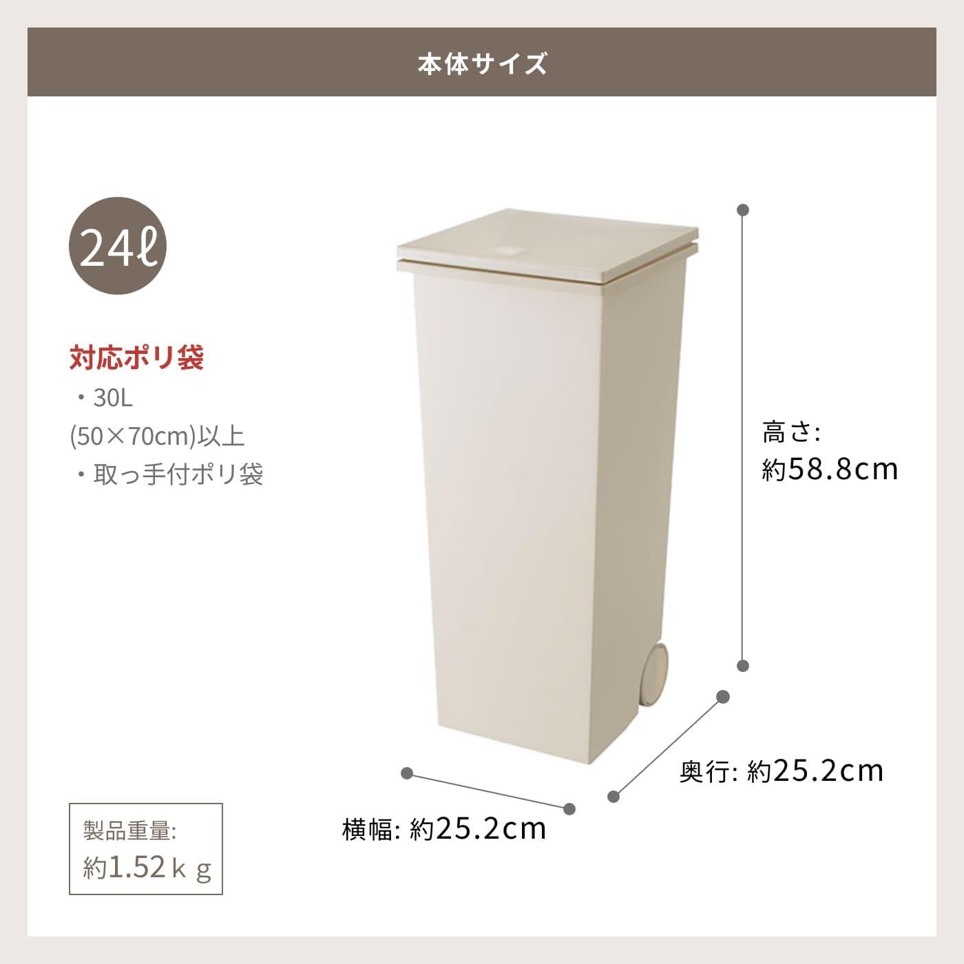 本体サイズ 24L 高さ約58.8cm 横幅約25.2cm 奥行約25.2cm